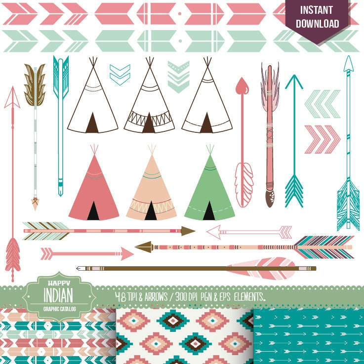 Indian Arrow Clip Art Papers Indian Clip Art