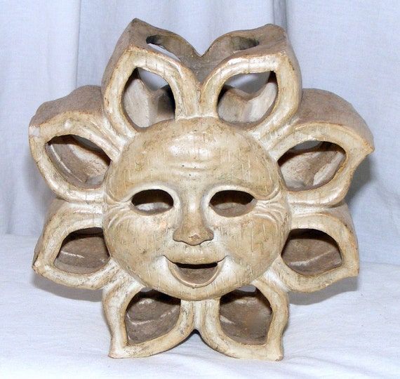 VINTAGE SUN GOD Candle Holder