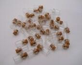 50 18x12mm Glass Vial, Mini Vial,Cork Vial,DIY Craft,Glass Charm,Bottle Vial,Necklace Vial,Jewelry Vial, Cork Bottle, Tiny Vial, Mini Bottle
