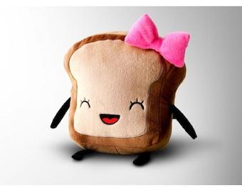Mrs. Little Bread slice Cute Plush Toy Kawaii Plushie