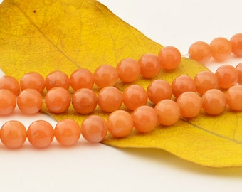 15.5'' Red  Aventurine  Bead Gemstone  8mm Smooth Round
