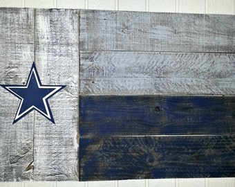 Dallas Cowboys Outdoor Wooden Flag