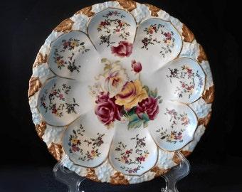 R S Reinhold Schlegelmilch Bowl Hand Painted Peonies 10-inch