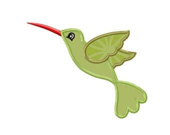 Hummingbird Applique Machine Embroidery DESIGN NO. 314
