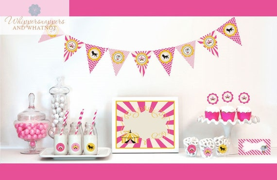 Pink Carnival Circus Party Decorations Starter Kit- Birthday or Baby ...