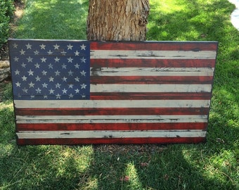 Wood American Flag Wall Art large distressed american flag distressed wood usa rustic