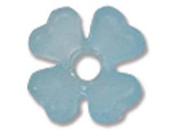 Lucite 6mm Baby Breath Flower - Light Blue - Pack 25