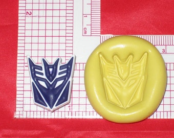 Transformers Decepticon Autobot Push Mold Safe Silicone A600 Cake Resin Clay