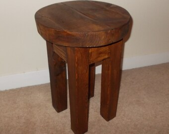 New Hand Made Rustic Solid Wooden Stool/Bar Stool 031