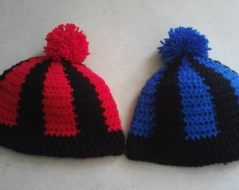 Hand made Two color beanie
