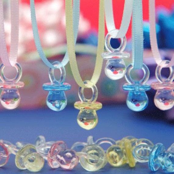 the original pacifier necklace baby shower game set of 20