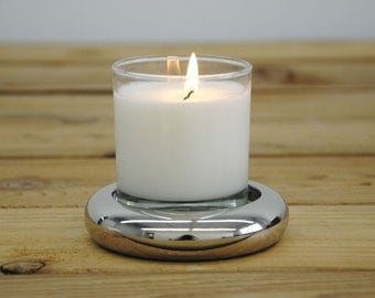 Handmade Stainless Steel Round Candle Base