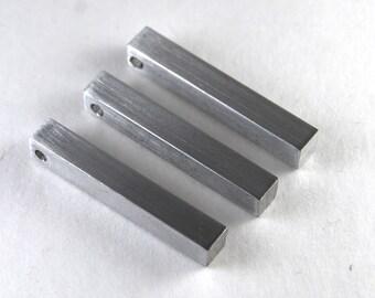 "Stamping Blanks Aluminum 1/4"" Bar Tag - You choose the length  De-Bured"