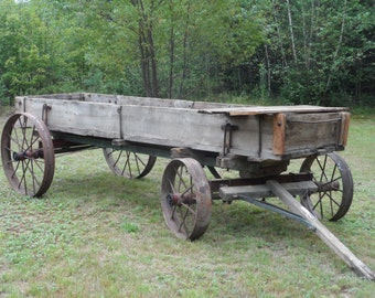 Antique Farm Wagon, Farm Equipment, Wagon, Cart
