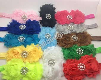 U Pick Wholesales Shabby Chic Flowers Headband Baby Headbands. Newborns Headbands. Girl's Headband YTH36