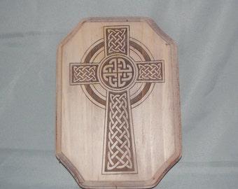 Celtic Cross Engraved plaque