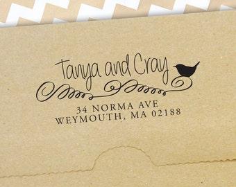 Return Address Stamp, Self Inking Address Stamp, Address Stamp, Wedding Address Stamp, Custom Address Stamp (s22)