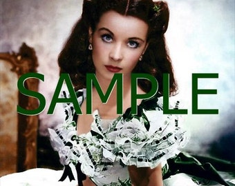 Fabric Art Quilt Block - Gone With The Wind - Scarlett O'Hara  GWTW36- FREE Shipping