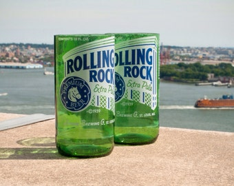 Set of 4 Rolling Rock Drinking Glasses
