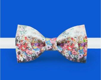 Floral bowtie - Botanical bowtie - Beautiful bowtie - Gift bowtie