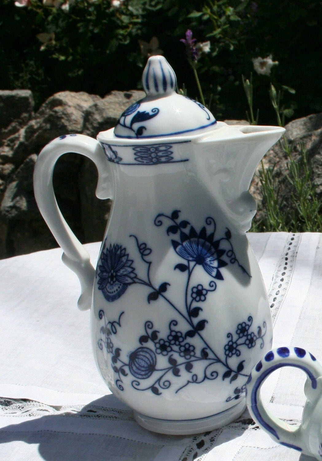 Vienna Woods Fine China Pitcher Or Teapot With Beautiful