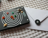 Quilled Mini Solar System Greetings Card for Children