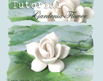 TUTORIAL Polymer Clay Gardenia Focal Bead Hand Sculpted Lifelike Flowers PDF eBook