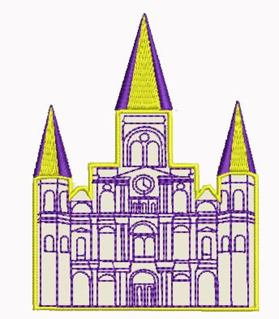 St Louis Cathedral Castle Machine Embroidery Design
