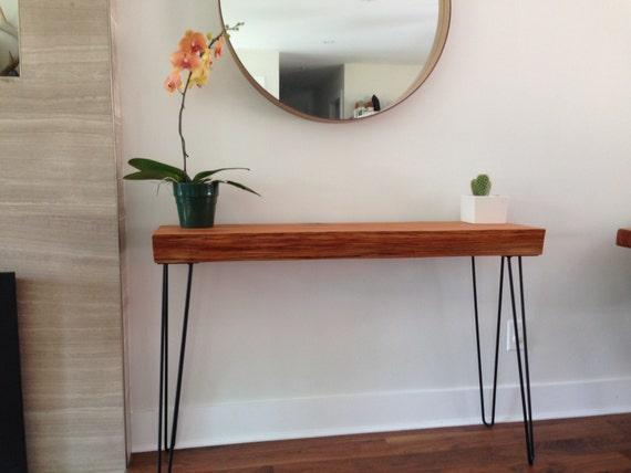 Console Table- Solid FIR Wood Desk- Live Edge Sofa Table ...