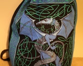 Blue Celtic Dragon Backpack
