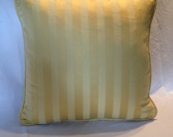 Tone on Tone Yellow Stripe Pillow Covers