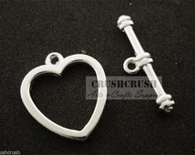 Free Shipping - 9sets Silver T Bar&Toggle Clasps Charms Pendants Connectors PND-588