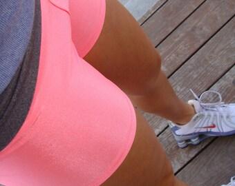 Women / Teen High Waist Compression Spandex Workout Shorts