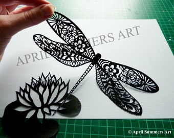 PERSONAL Mr Dragonfly Digital DIY Papercutting File Paper Cutting Template