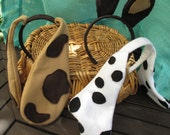 Puppy Ears Party Favor / Puppy Ears Headband /  Kids Costumes / Special Occasions / Birthday Parties / Favors
