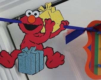 Elmo Happy Birthday Banner (or any Sesame Street character)