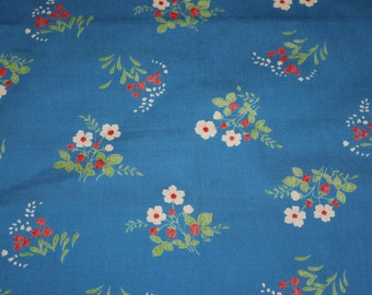 Flower Power Blue Vintage Cushion Cover