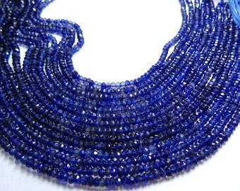 13.5 Inches Natural Iolite Beads Micro Faceted Rondelles BEADS - Micro Faceted 2 to 2.5  MM