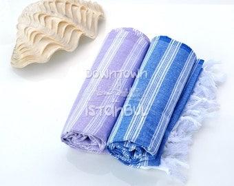 Fouta Towel Set of 2 Turkish Bath Towel Beach Towel Towel Peshtemal Pestemal Beach Dress Pool Sea Towel Bath Towel Peshtemal Beach Peshtemal