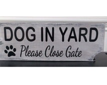 Popular Items For Beware Of Dog Sign On Etsy