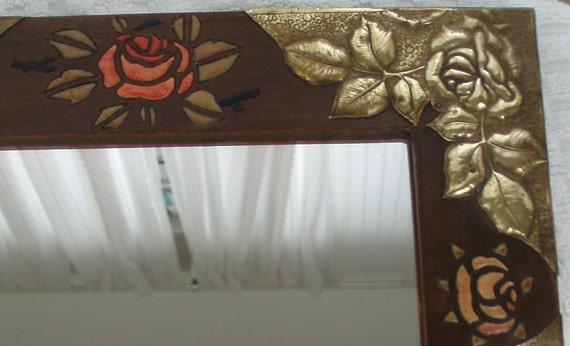 art nouveau miroir arts crafts miroir par. Black Bedroom Furniture Sets. Home Design Ideas
