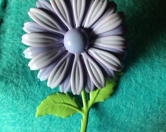 Vintage 1960's purple flower pin