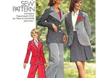 """Simplicity 6103 """"Best in Show"""" Jacket, Skirt & Pants 1973 / SZ12 UNCUT"""