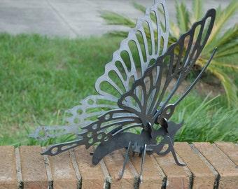 3D butterfly sculpture in steel