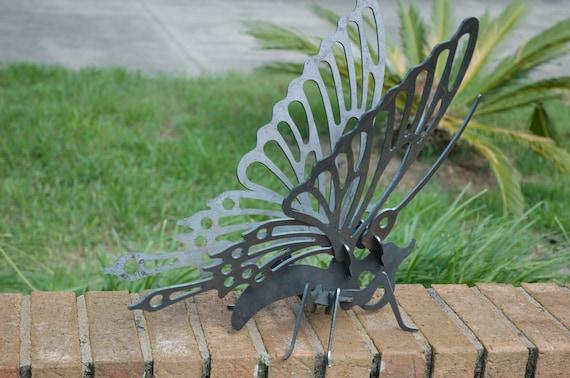 Butterfly Garden Art, Outdoor Yard Art, Garden Art, Garden Sculpture, Metal Butterfly, Butterfly Yard Art, 3D Metal Art, 3D Butterfly
