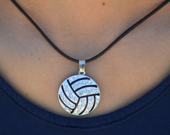 Volleyball Necklace, Volleyball Team Gift, Volleyball Jewelry, Large Volleyball Pendant Necklace, Volleyball Jewelry, Volleyball Gift