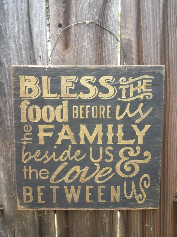 Bless The Food Before Us Sign, Thanksgiving decor, holiday decor, fall decor, thanksgiving sign, holiday sign, fall sign, 67/89