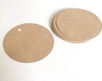 20 blank circle kraft tags  - gift wrapping tags - wedding tags - packaging tags - gift tags - wedding favor tags - brown kraft tags