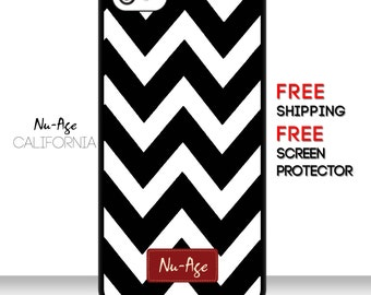 Zig Zag Stripes IPhone 5/5S Case iPhone 6 Black and White Case Protective Case Striped Zig Zag IPhone 6 Plus Cell Phone Case Zig Zag Pattern