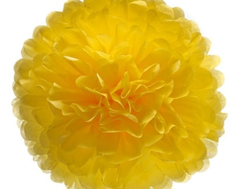 """Beautyful Tissuepaper Pompoms, Color """"Eggyellow"""" choose from 4 sizes, great for weddings, partys, babyshowers and garden decoration!"""